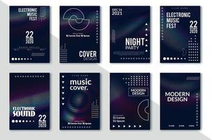 Minimales Plakatdesign des Festivals der elektronischen Musik vektor