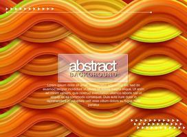 Wellen-orange flüssiger Formhintergrund vektor