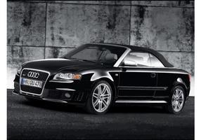 Svart Audi RS4 Cabriolet vektor