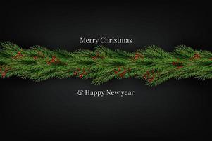 Weihnachtskranz-naturalistische schauende Kiefer