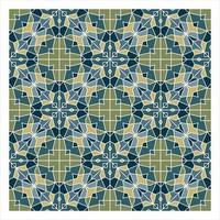 Blaues und grünes geometrisches nahtloses Muster