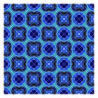 Blå geometriska sömlösa mönster