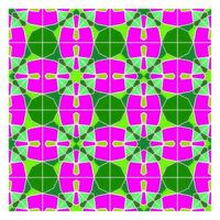 Geometriska sömlösa mönster i retro stil