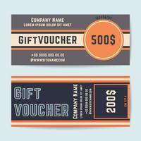 Gutschein-Geschenkvorlage vektor