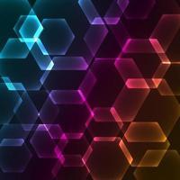 Bokeh Unschärfe mit Hexagonhintergrund