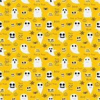 Spöken och Goblins Halloween sömlös modell gul bakgrund