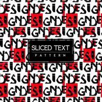 Geschnittener Text-nahtloser Muster-Schwarzweiss-Hintergrund vektor