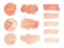 Peach akvarell logo samling