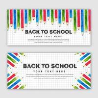 Tillbaka till skolan Banner Set