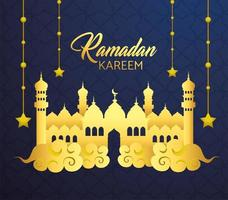 Burg mit Sternen hängen für Ramadan Kareem