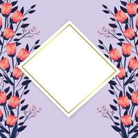 exotiska blommor med diamantetikett