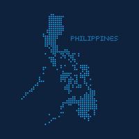 Abstrakte Gepunktete Karte Der Philippinen vektor