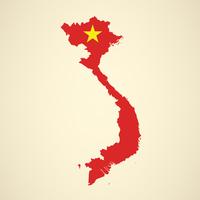 Vietnam-Karten-Staatsflaggen-Vektor-Design vektor