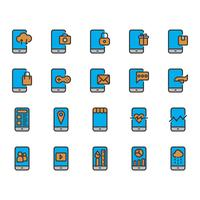 Icon-Set für mobile Anwendungen vektor
