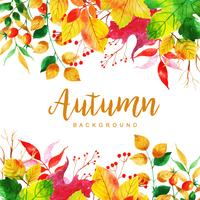 Schöner Aquarell-Herbstlaub-Hintergrund