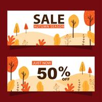 Herbst Sale Banner gesetzt