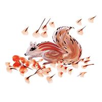 Aquarell Eichhörnchen vektor