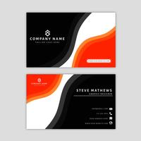 Moderne Visitenkarte-Schablone mit abstraktem Design vektor