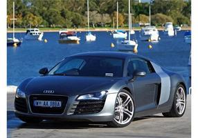 Silber Audi R8 Hintergrund