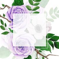Akvarell blommig ram