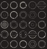 Retro- Ansammlung des leeren grunge Stempels vektor