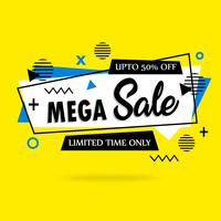 Abstrakt färgrik Mega Sale bakgrund