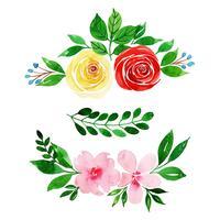 Akvarell blommig samling