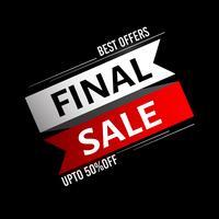 Final Sale Hintergrund