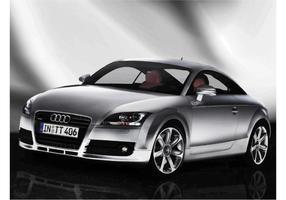 Silver Audi TT Bakgrund vektor