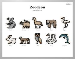 Zoo Icons LineColor Pack vektor