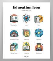 Utbildning LineColor pack vektor