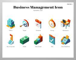 Geschäftsführung Icons Pack vektor