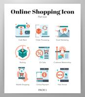 Online-shopping Icons Set vektor