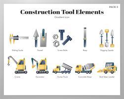 Uppsättning av konstruktionsverktygselement