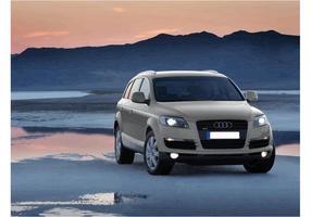 Audi Q7 SUV Bakgrund vektor