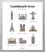 Wahrzeichen Symbole LineColor Pack