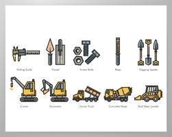 Byggnadsverktyg element pack