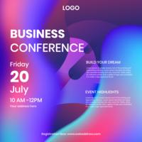 Geschäftskonferenz Instagram Postkarte Vorlage vektor