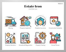 Estate ikoner set vektor