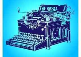 Antike Schreibmaschine vektor