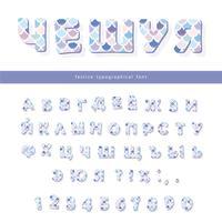 Trendige Schriftart der kyrillischen Meerjungfrau-Skala. Niedliches Alphabet für Meerjungfraugeburtstagskarten, Poster