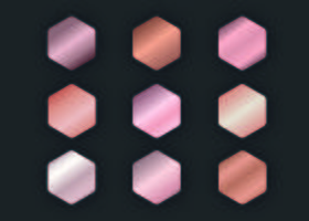 Rose Gold Gradients kollektion