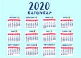 Kreativa och söta kalendermallskola vektor