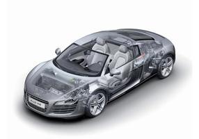 Audi r8-teknik vektor