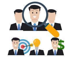 Teamarbeit Business Set