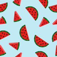 vattenmelon med vattenmelon skivor patten vektor