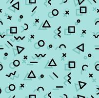 Geometrisk memphis-stil samelessmönster vektor