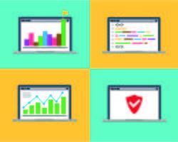 Geschäfts-Laptop-Konzept vektor