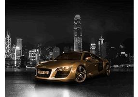 Guld Audi R8 vektor
