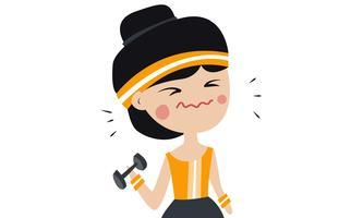 Charakter Mädchen Sport